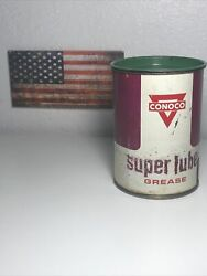 Vintage Conoco Super Lube Grease Can 1 Pound - Gas And Oil