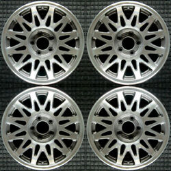 Lincoln Lincoln Machined W/ Charcoal Pockets 16 Oem Wheel Set 1998 To 2002