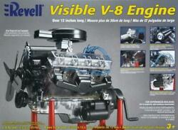 Revell Visible V-8 Engine 14 Scale Model Hand Crank In Box In Packages