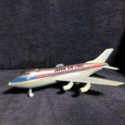 Vintage Retro Tin Jal Boeing 747 Japan Airlines Toy Made In Japan Length 8.6inch