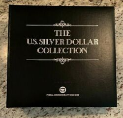 35 Coin Complete Morgan And Peace Dollar Us Postal Commemorative Date Stamp Set