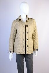 Womenand039s Brit Nylon Olive Quilted Jacket Size S 175/88