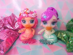 Rare Poopsie Rainbow Surprise Fantasy Friends Shelly Scarlet And Misty Coral Doll