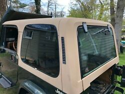 87-95 Jeep Wrangler Yj Hard Top W Wiper Sahara Tan