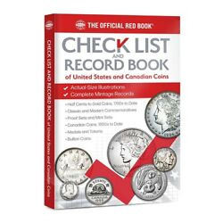 Check List And Record Book Of Us And Canadian Coins Collection Track Write Notes