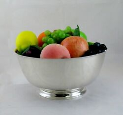 Vintage And Co Sterling Silver Paul Revere Fruit Bowl No Mono 10 1/4