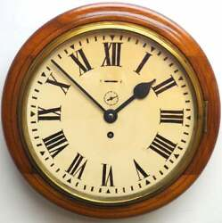 Antique 1910 Astral English Movement 8-day Duration Wall Clock Rare 10 Inch Dial