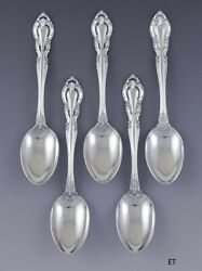 Great Set 5 Alvin Sterling Silver Vivaldi Place Dessert Oval Soup Spoons