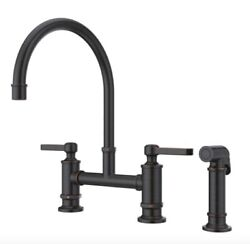 Port Haven 2-handle Bridge Kitchen Faucet In Tuscan Bronze By Pfister