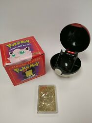 Used 1999 Jigglypuff Pokemon Burger King 23k Gold Plated Card W/ Red Box - Nocoa
