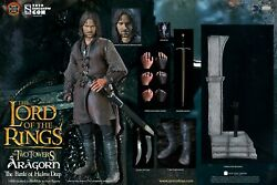 Aragorn At Helm's Deep By Asmus Collectible Toys Limited Edition Sixth Scale Set
