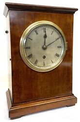 Antique Goverment Issue Grv Single Fusee Mahogany Clock Post Office