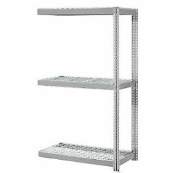 Expandable Add-on Rack With 3 Levels Wire Deck 750lb Cap Per Level 72w X 24d