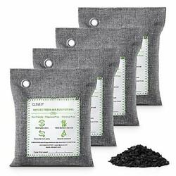 Clevast Bamboo Charcoal Air Purifying Bags 200g4 Removes Odors And