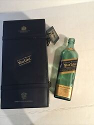 Johnnie Walker Blue Label Empty Bottle And Case 65.00 + Free Shipping