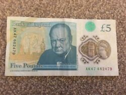 New Andpound5 - Ak47 682479 - Rare Five Pound Note Fiver Pattern Ak47 Serial Number