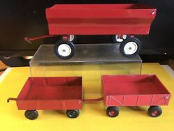 Ertl Lot 3 Vintage Utility Trailers Used Made In Usa