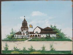 Oil Painting Sweden Entry Hall Swedish Expo Worlds Fair Ppie San Francisco 1915