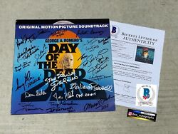 Day Of The Dead Signed Laserdisc George Romero Signed Beckett Bas Coa