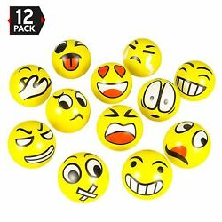 3quot; Party Pack Emoji Stress Balls Stress Reliver Party Favors Toy Balls $10.49