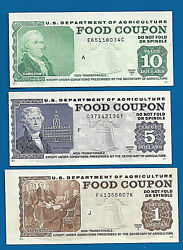 Food Stamp Coupon 1981 A And B Usda Currency Paper Money Script Welfare Unc