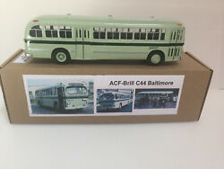 1/43 1950and039s City Bus Acf Brill C44 Baltimore Fleet 2620 Handmade By Vector