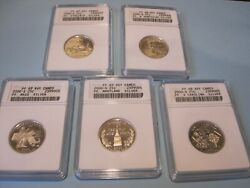 5 - 2000-s Silver Proof Statehood Quarters / Certified Cameo