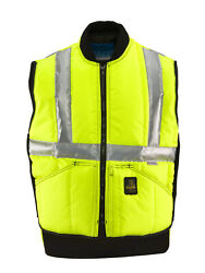 Refrigiwear Iron-tuff High Visibility Insulated Safety Vest With Reflective Tape
