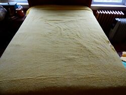 Vintage Yellow Ribbed Chenille Bedspread Cutter Lightweight