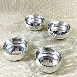 Christofle Silver Plated Bowls Small Nut Candy Olive Dish Plain Simple Set Of 4