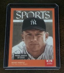 2021 Topps X Sports Illustrated 7 Mickey Mantle - Orange Parallel 4/10