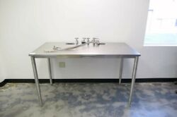 Stainless Steel 24d X 60w Hospital Medical Cleanroom Lab Table With Gas Ports
