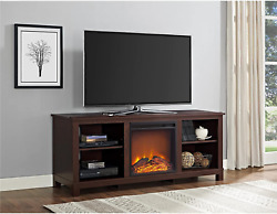 Ameriwood Home Edgewood Tv Console With Fireplace For Tvs Up To 60, Espresso