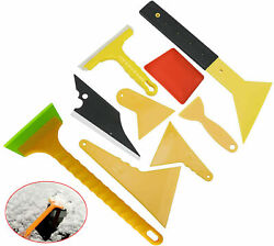 9 Pcs Car Window Film Tint Tools Auto Wrapping Scraper Squeegee Glass Cleaning