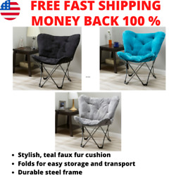 Oversized Moon Chair Seat Stool Saucer Soft Folding Home Living Room Sofa Colors