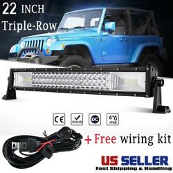 22 Tri-row 1296w Led Work Light Bar Offroad Truck For Jeep Ford Pickup Suv 20