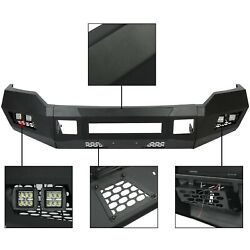 For 2011-2016 Black Front Bumper W/ Leds 2/4wd Ford F250 F350 Heavy Duty Steel