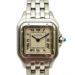 Auth Watch Panthere Ss Quartz Case 22mm Overhauled F/s