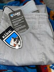 New Kuhl Womens Cabo Pant 32 Inseam 6272 Birch Size 6