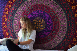 Colorful Hippie Mandala Tapestry Boho Bohemian Tapestries Indian Dorm Decor Ps