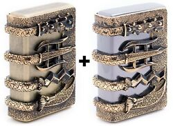 Zippo Lighter Oriental Arms Windproof Genuine Org Packing Set 6 Flints Free Gift