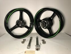 2016 2017 2018 Kawasaki Zx10rr Zx10r Front And Rear Rims Wheels And Axle Oem