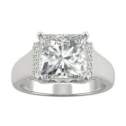 Moissanite By Charles And Colvard 8.5mm Square Fashion Ring 3.72cttw Dew