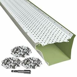 Leaftek Gutter Guard 5x35and039 Aluminum No Rust 35 Year Warranty White Superb