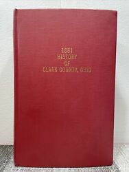 1881 History Of Clark County Ohio Beers Hb Illustrated Reproduction Springfield