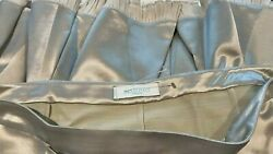 Emilio Pucci Lt. Gray Satin Bow-tie A-line Skirt, Sz44, Italy