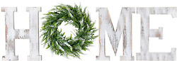 LOSOUR Home Letters with Wreath Farmhouse Decor for The Home Clearance Wood Lett