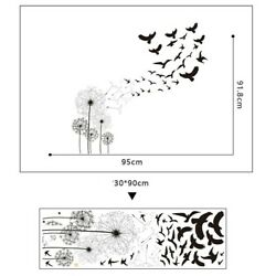 Flower Bird Wall Stickers Removable Room Decal Art DIY Room Home Decor
