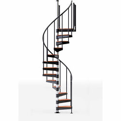 Reroute 36h Platform Rail Spiral Stair Kit 42 Dia 14-2/3and039h Oak Covers