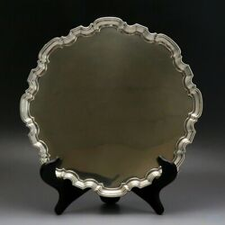 1932 Classic English Sterling Silver Footed Chippendale Serving Tray Large Size